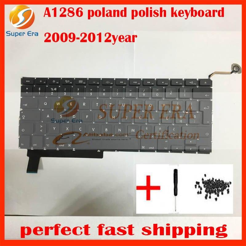 10pcs lot new original for font b macbook b font pro 15 A1286 poland polish keyboard