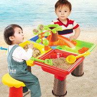Plastic Sand Table Baby Summer Toys Interactive Beach Water Play Toys Sand Dune Tool for Kids Children Play with Retailed Box