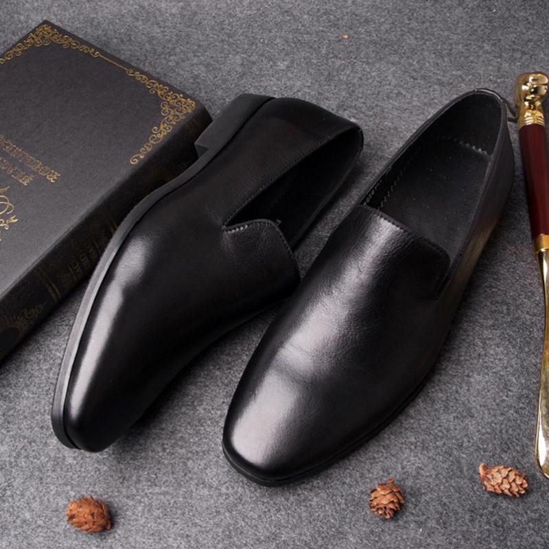 Sólido Herenschoenen Mycolen Casuais Homens Nova Masculinos Preto Reais De Couro Marca Chegada Sapatos Mocassins Negócios branco Da Preto Branco Moda aazwZrq