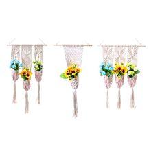 Handmade Weaved Tapestry Macrame Plant Flower Pot Hanging Holder Hanger Home Garden Balcony Courtyard Decoration