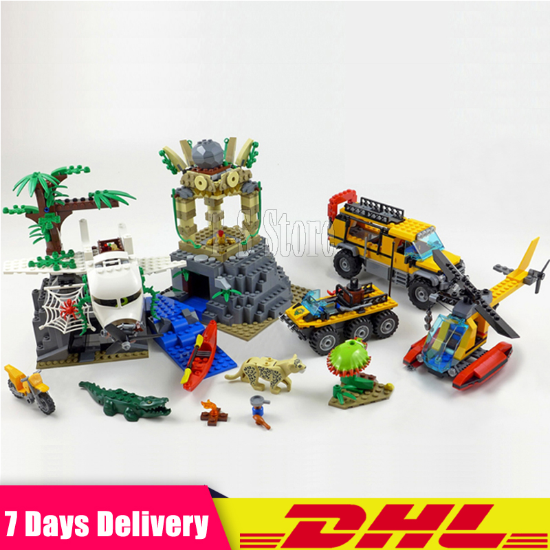 DHL IN Stock 2018 Lepin 02061 City New Series Exploration of Jungle Building Blocks Bricks DIY Model Set Children Toy 60161 Gift lepin 02012 city deepwater exploration vessel 60095 building blocks policeman toys children compatible with lego gift kid sets