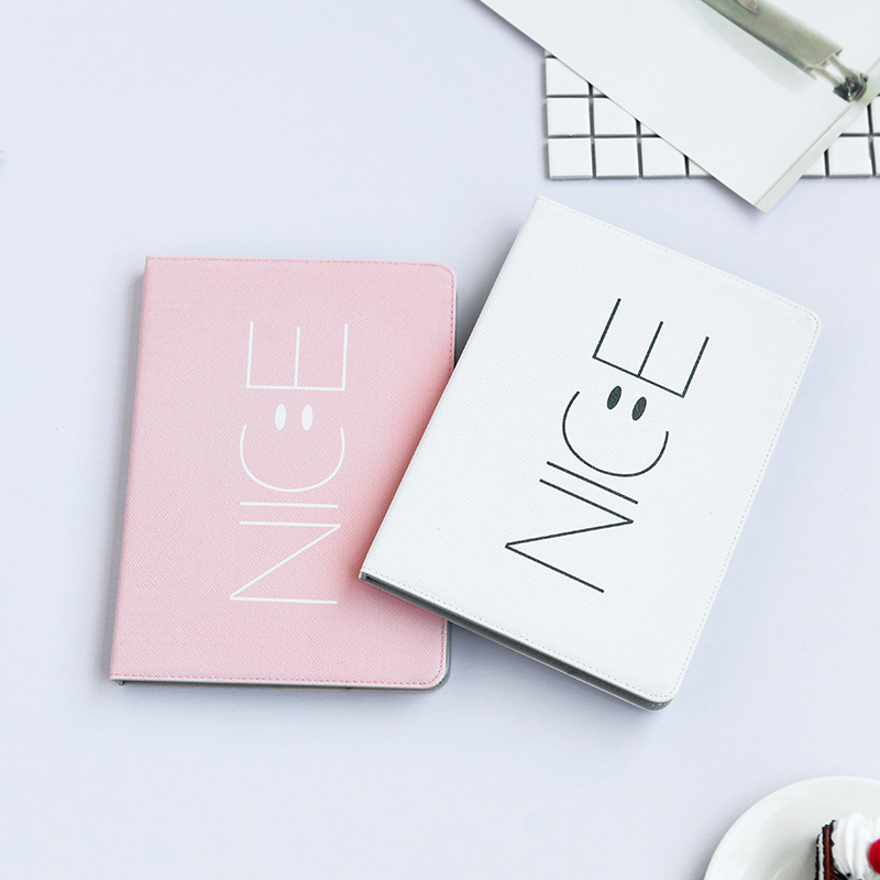 Auto Wake/Sleep Smart Stand Case For Tablets Ipad 2 3 4 Mini 1 2 3 PU Leather Flip Smile Face Protective Fundas For Ipad Air 1 2