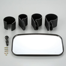 Universal Car Rear View Mirror Wide For UTV ATV Off Road Large Race Cafe Racer With 1.5 1.75 2 Round Tube Roll Bar