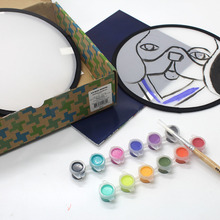 Купить онлайн 1 шт. уникальные работы из круглого диска ребенка собственное искусство создания кисти инструментов художника картина поставки WH15