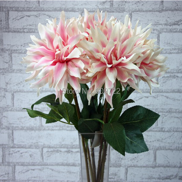 Big Fabric 12pcs Artificial Dahlia Flower Bouquet Wedding Home ...