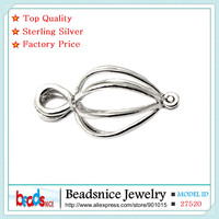 Beadsnice ID27520 Real Silver 925 Ball Pendants Cage Handmade Solid Silver Cage Pendant Finding Wholesale For