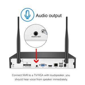 Image 4 - Techege H.265 8CH 1080P sistema de cámara de Audio 2MP cámara de seguridad de vigilancia al aire libre impermeable inalámbrico IP cámara de vídeo Kit