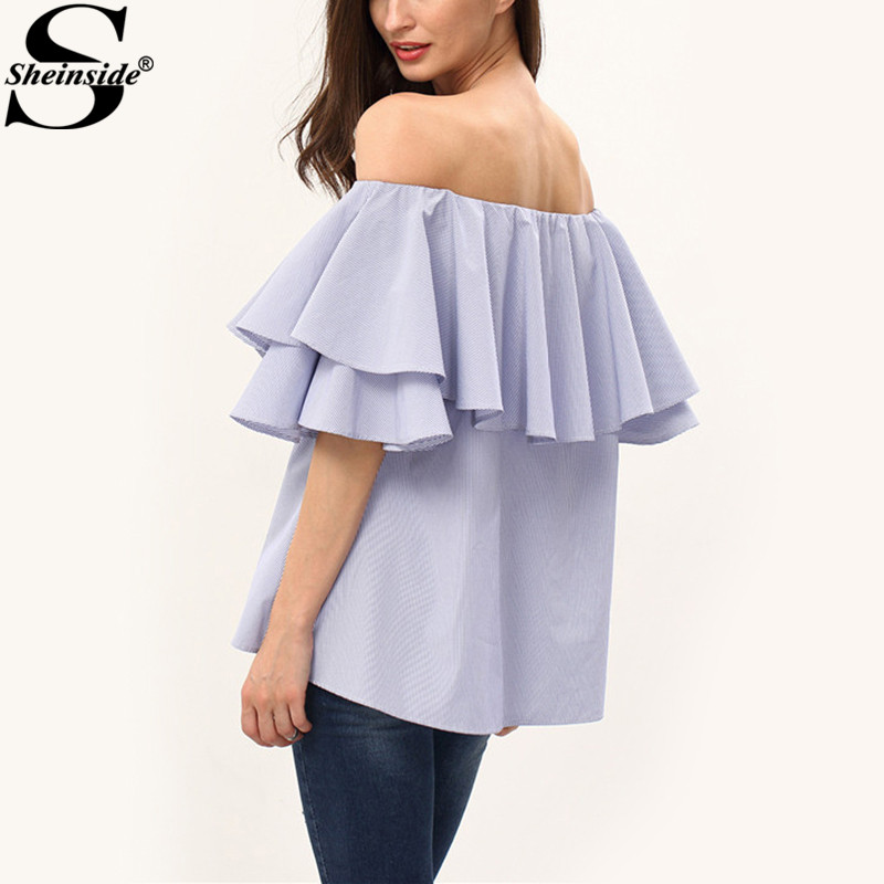 Aliexpress.com : Buy Sheinside Off The Shoulder Blouses Cute ...