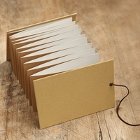 20.5*14 cm Dikey Kraft Kapak Akordeon Tarzı Albümü 32 Sheets 62 P El Yapımı DIY Yapışkan Tipi Kraft Kağıt Retro Albüm Düğün