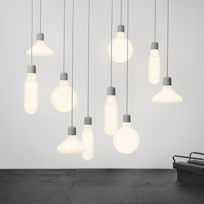 Nordic LED Glass Bottle Droplight Creative Sing-head Dining-room  Study Bedroom Pendant Lamp nordic small droplight contemporary and contracted single head dining room lamp creative bedroom study art cafe bar lamps
