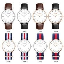 Otex Top Brand Relojes Hombres y Mujeres de la Alta Calidad de Nylon de Cuero Reloj de Oro Rosa de Plata 40 cm Femme Del Relogio masculino