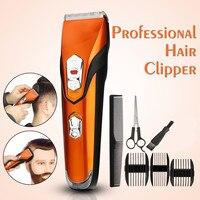 Kemei máquina de cortar cabelo profissional para homens sem fio recarregável elétrica máquina de cortar cabelo corte de cabelo|Aparadores de pelo| |  -