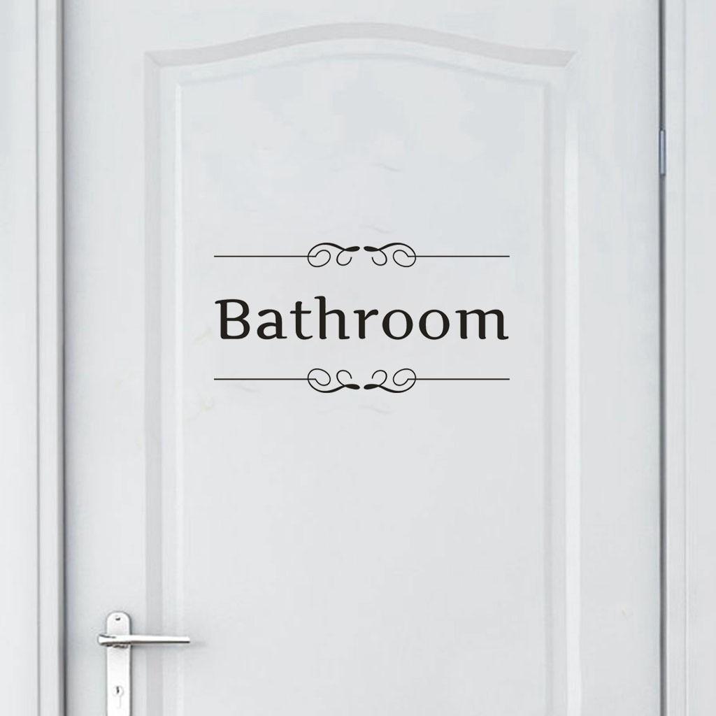 Dropshipping Bathroom Reusable Washroom Home Decor PVC Sticker Door Decal Bedroom Art Mural For Door Decoration Sticker
