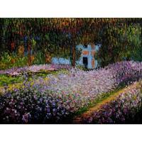 جودة عالية اليدوية المشهد فنانين حديقة في جيفيرني كلود مونيه النفط الطلاء على قماش صورة ديكور المنزل الفن الحديث