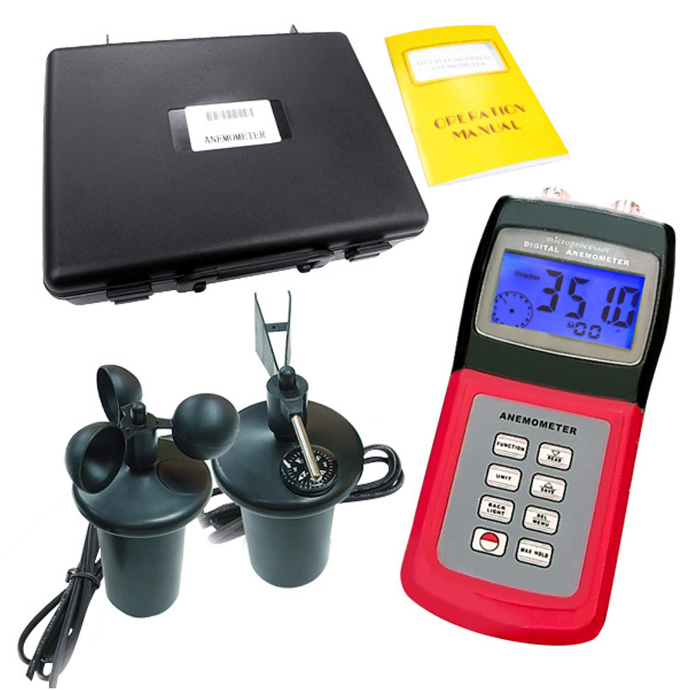 Am 4836c Multifunction Anemometer Thermometer Weather Wind Velocity Lutron Lm 8010 Portable Digital Thermo Cup Type Sensor Probe Air Speed Direction Multi Function Meter