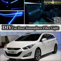 interior Ambient Light Tuning Atmosphere Fiber Optic Band Lights For Hyundai i40 Inside Door Panel illumination (Not EL light)