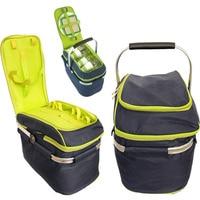Outdoor Folding Picnic Bag Portable Large Camping Food Storage Basket Portable Insulation Meal Bag Camping Hiking Picnic Bag O