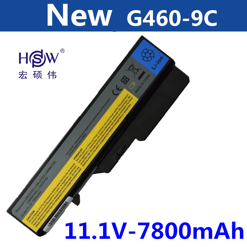 HSW 9cell Laptop Battery For Lenovo IdeaPad G460 G560 V360 V370 V470 B470 G460A G560 Z460 Z465 Z560 Z565 Z570 LO9S6Y02 bateria new original cooling fan for lenovo g460 g460a z460 z460a g465 z465 z560 z560a z565 laptop cooler radiator cooling free shipping