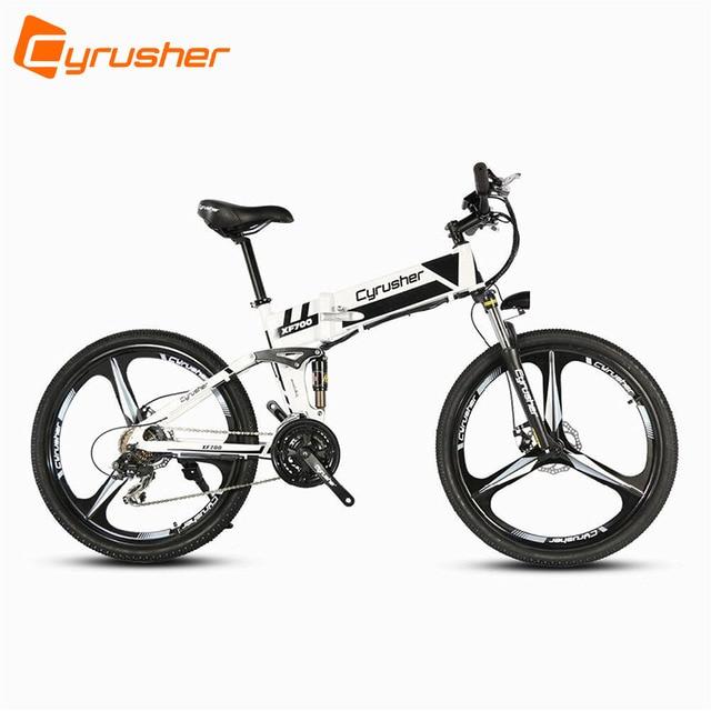 All Terrain Bike >> Cyrusher Xf700 White Mtb Mans Folding Electric Mountain Bike All
