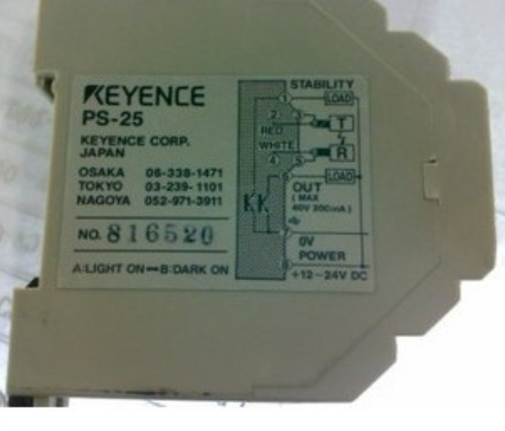 PS-25  keyence   fiber amplifier  ps 05 ps 05t and ps 05r keyence photoelectric sensor