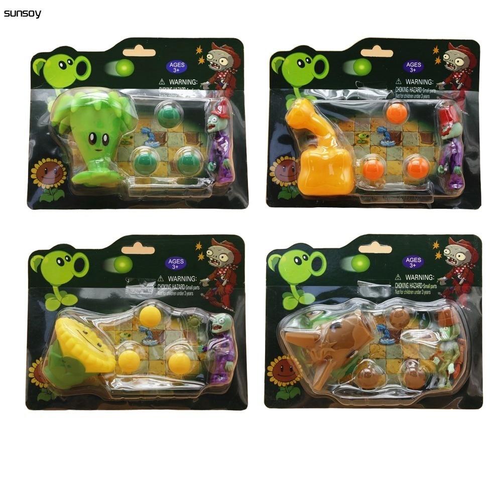 2016 New Popular Plants vs Zombies Figures 10CM Plants vs Zombies Peashooter PVC Action Figure Game Toys For Children 8 Styles