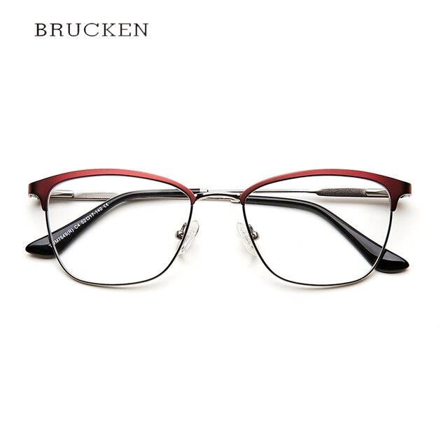 6fc9232f4b7f9 Metal Women s Spectacle Frames Fashion Vintage Clear Transparent Retro  Glasses Women Armacao De Oculos De Grau Para Mulher