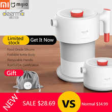 Xiaomi Deerma Folding Electric Kettle 0.6L Travel Portable Water Kettle Handheld Water Flask Pot Auto Power-Off Protection Pot - DISCOUNT ITEM  11% OFF Home Appliances