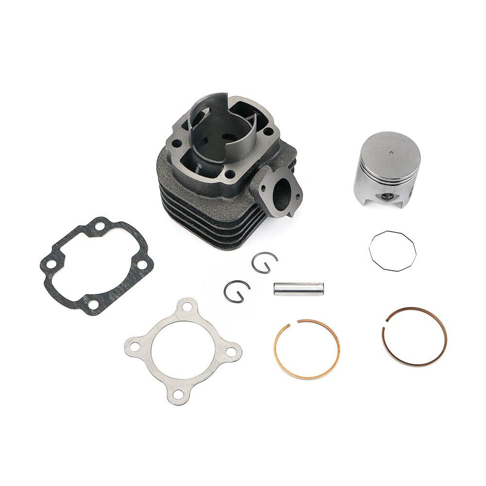 47 мм цилиндр поршень большой диаметр комплект для Yamaha Jog 50cc 1E40QMB Apirilia Vino для Polaris JOG CV для Minarelli горизонтальный двигатель