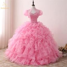 Bealegantom New Real Photo Sweetheart Quinceanera Dresses 2019 Ball Gown Beaded Sweet 16 Dress Vestidos De 15 Anos QA1306
