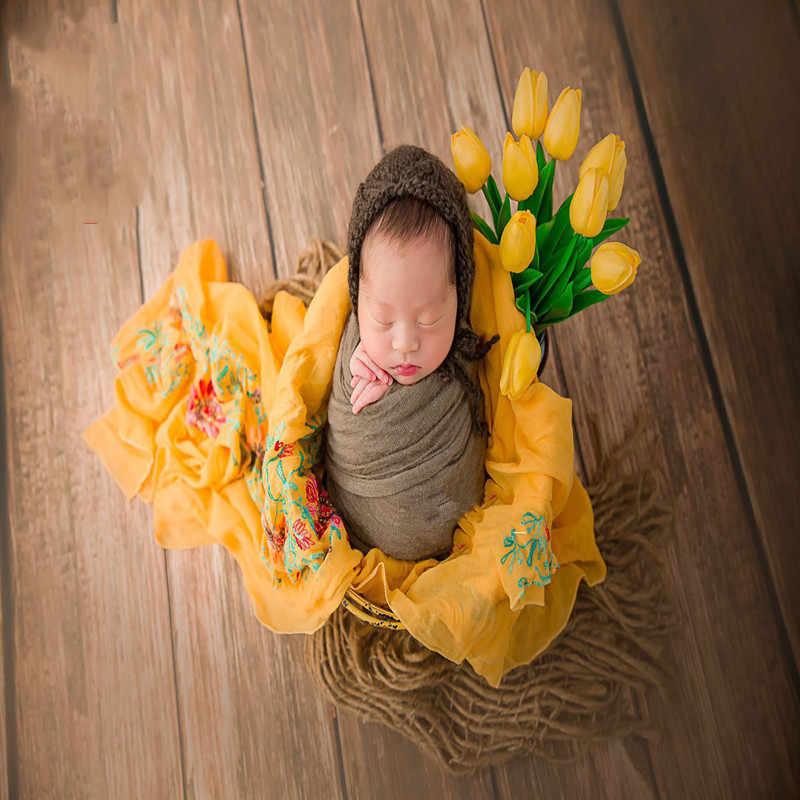 القطن التطريز الوليد الطفل التصوير الدعائم الأغطية خلفية بطانية الطفل الرضع طفل استوديو التقطت الصور