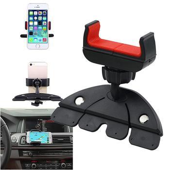 Soporte de montaje práctico para coche con ranura para CD de 360 grados para teléfono inteligente GPS práctica rotación halter ablet Universal para iPhone Hold