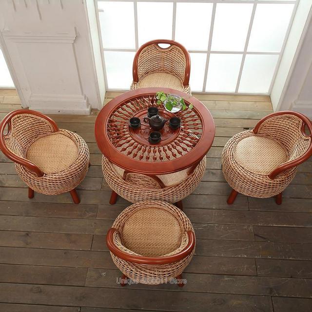 Solid Wood Luxury Balcony Chair 2