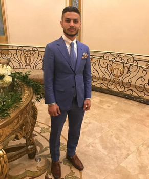 Custom Made High Quality Men Suits Two Pieces Wedding Suit For Groom Handsome Tuxedos Casual Wear (Jacket+Pants)