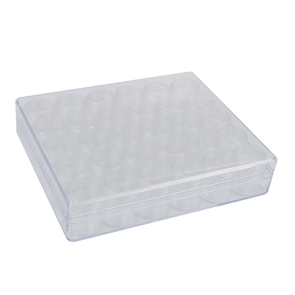 DoreenBeads Rectangle Acrylic Clear Transparent Box Beads Display Storage Container W/Lid 16x13.5x3.5cm 1PC (30 small boxes)