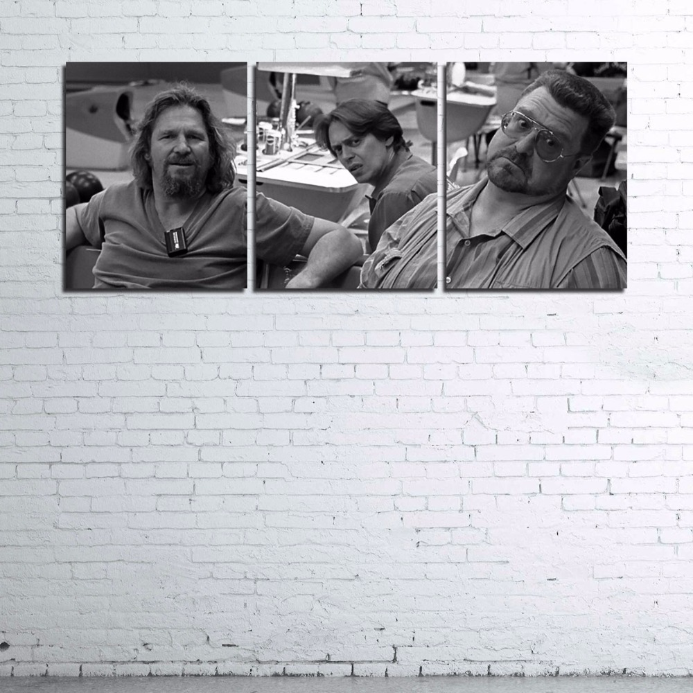 Modern Home Decor Poster Frame Wall Art Pictures HD Printed Canvas Photo 3 Piece Retro Nostalgic The-Big-Lebowski Movie Painting