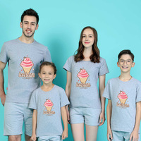 Parenting Dress Wear One Home Four Whole Family The Influx Of Children Lovers Summer Pure Cotton