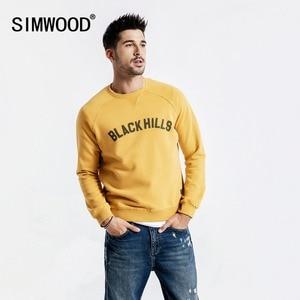 SIMWOOD 2019 ربيع جديد هوديس الرجال 100% القطن ممزق التفاصيل خمر عالية الجودة بلوزات إلكتروني زائد حجم هوديي 190083