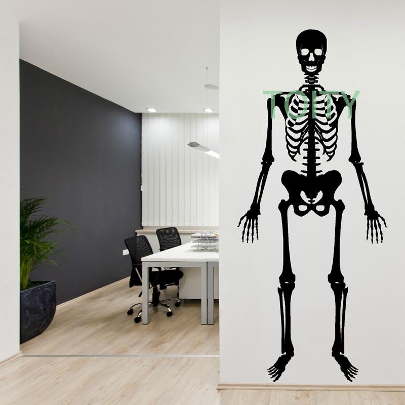 Esqueleto humano etiqueta decoración de la pared decoración de ...
