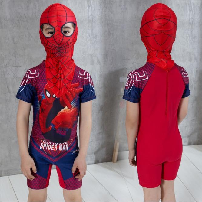 2 Stücke Schwimmen Kleidung Für Jungen Spiderman Badehose Mit Kappe - Sportbekleidung und Accessoires - Foto 1