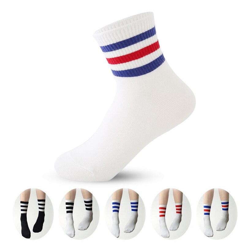 Fashion Classic 3 Three Striped Women Men   Socks   Retro School Style design High Quality Cotton Comfortable girl   Socks