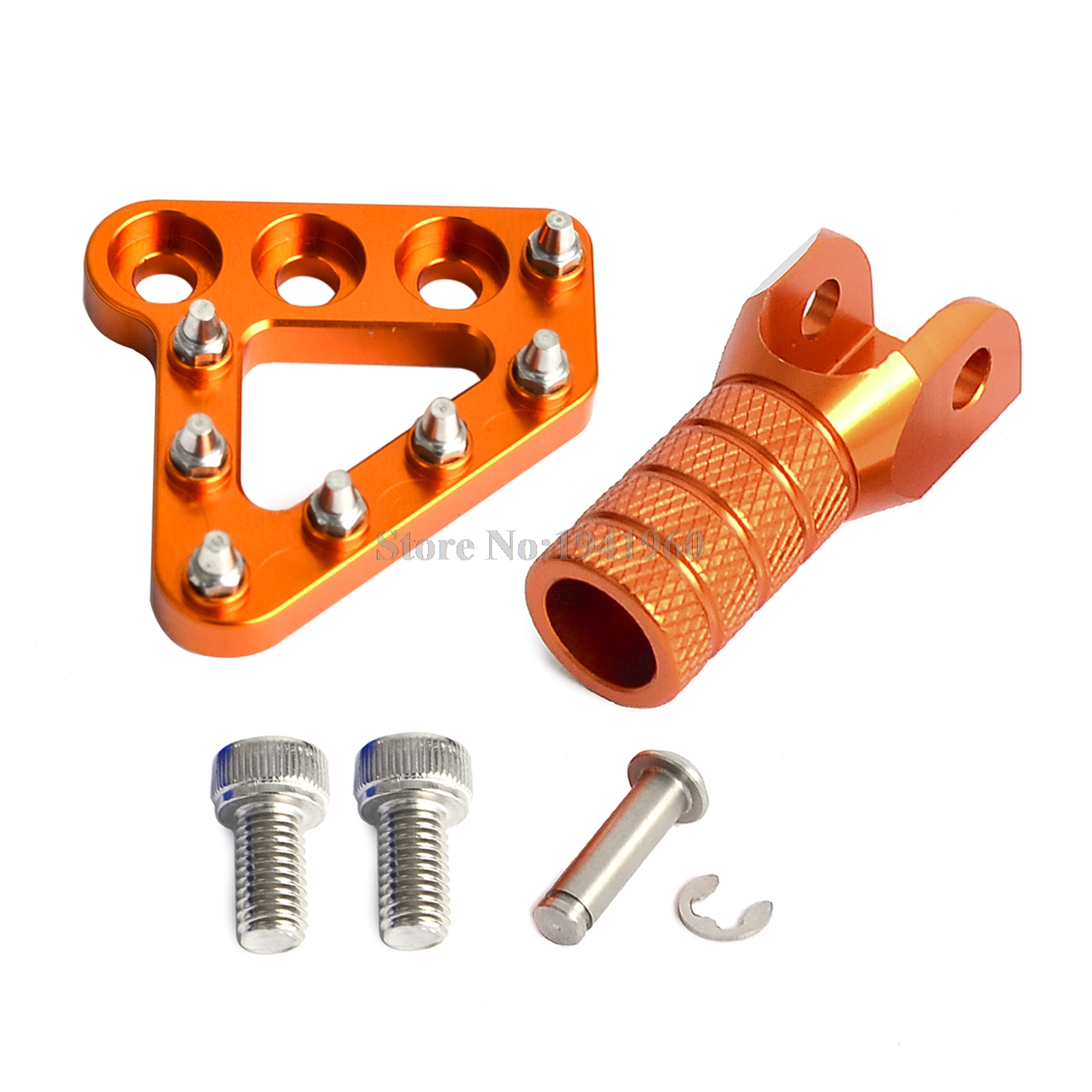 Clean Speed Extended Brake Pedal Pad Orange for KTM 450 EXC-F Six Days 2017-2018