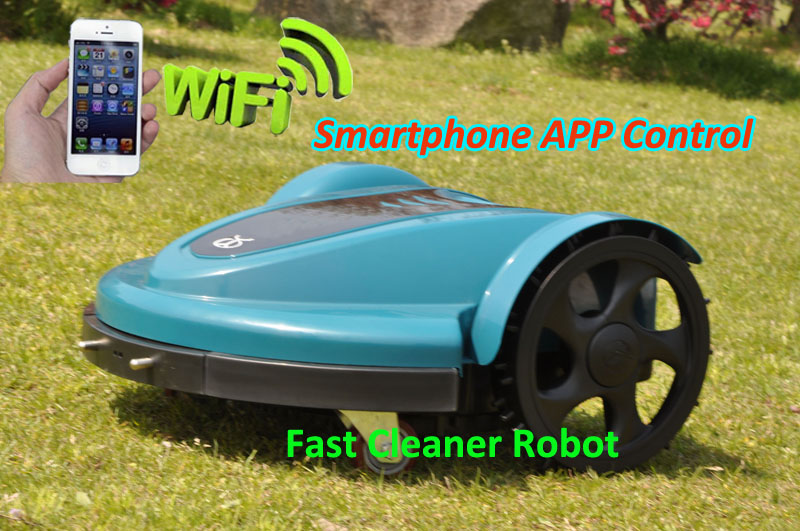 The Cheapest Robot Lawn Mower TC-158N With Lead acid Battery, Smartphone WIFI App And Water-proofed Charger newest wifi app smartphone wireless remote control lawn mower robot with water proofed charger range subarea compass functions