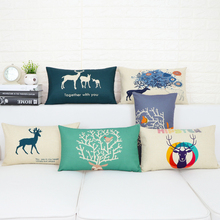 Nordic modern Home Decorative Pillows Case Animal elk Simple pattern 1149 Linen Pillow Cover Wedding Office Sofa Cushion Cover