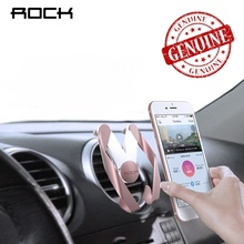 ROCK M Support De Voiture pour iPhone 8 Xiaomi Samsung S8 Air Vent Mount Soporte Movil Montage Voiture 360 Degrés Ratotable