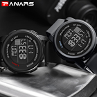 Sport Digital Watches Men Watch PANARS Brand Sports Watch for Men's Waterproof Relojes Hombre 8100 Gray Digital Military Watches