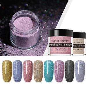 Image 3 - 14/8/6/4pcs Dipping Nail Powder Kits Nude  Dip Nail Glitter Powder Luminous Matte Gradient  Pigment Dust Sequins
