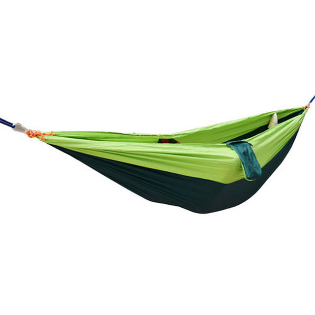 Double person hammock parachute portable outdoor camping indoor home garden sleeping hammock bed 220kg Max loading free shipping