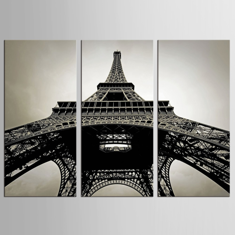 3 Pcs/Set Paintings On The Wall Art Canvas Painting Wall Pictures For Bedroom  Decoration Paris City Eiffel Tower