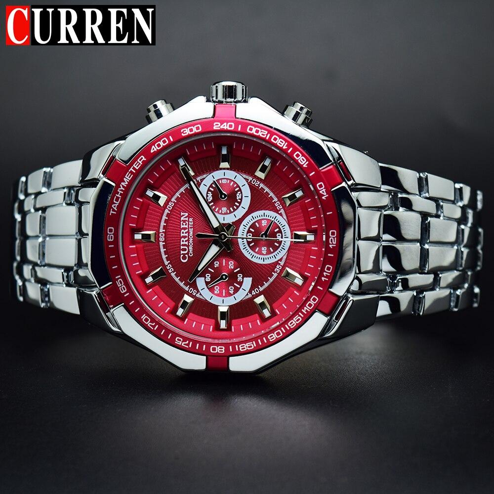 Men's Watch Dial Business Stainless-Steel Water-Resistant Fashion Luxury CURREN Analog-Quartz