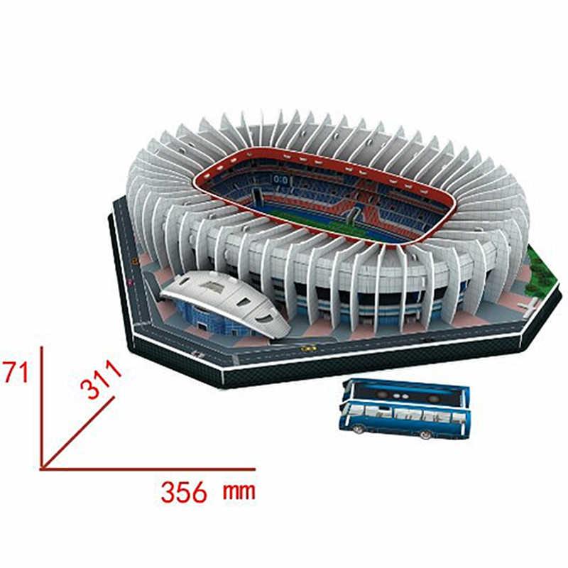 Classico Puzzle 3D Di Puzzle Parc des Princes di Gioco del Calcio di Stadi Mondo FAI DA TE Costruzione In Mattoni Giocattoli modelli in scala di Carta Set